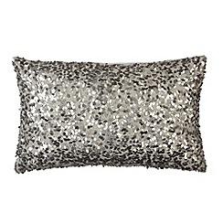 Betty Jackson.Black - Designer silver sequin cushion