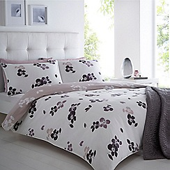 Betty Jackson.Black - White 'Wild Rose' duvet cover