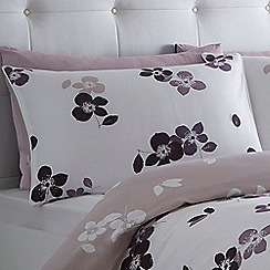 Betty Jackson.Black - White 'Wild Rose' pillow case pair