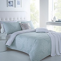Betty Jackson.Black - Designer aqua 'Dahlia' bedding set