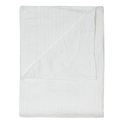 Betty Jackson.Black - Designer ivory textured cotton throw