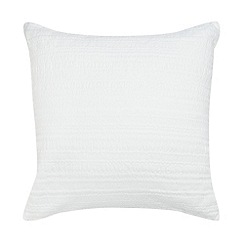 Betty Jackson.Black - Designer ivory textured cotton cushion