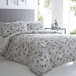 Betty Jackson.Black - Designer grey floral bedding set