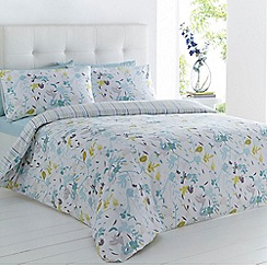 Betty Jackson.Black - Purple floral print bedding set