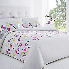 Betty Jackson.Black - White tulip print bedding set