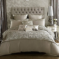 Kylie Minogue at home - Silver embellished 'Alexa' bedding set