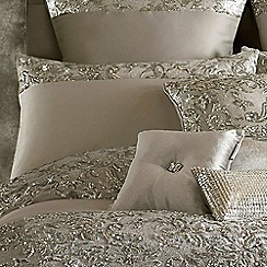 Kylie Minogue at home - Silver 'Alexa' 200 thread count pillow case