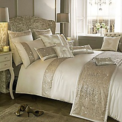 Kylie Minogue at home - Cream embellished 'Duo' bed linen