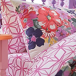 Accessorize - Purple floral 'Union Jack' sheet set