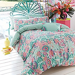 Accessorize - Light green 'Bali' floral bedding set