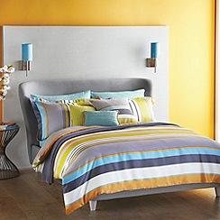 Harlequin - Dark grey 'Bali' striped bed linen