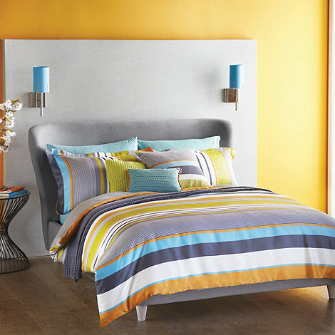 Harlequin - Dark grey 'Bali' striped bed linen