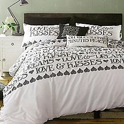 Emma Bridgewater - White 'Black Toast' bed linen