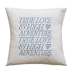 Emma Bridgewater - White 'True Love' cushion
