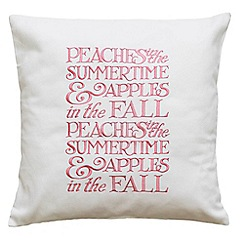 Emma Bridgewater - White and Pink 'Peaches' cushion