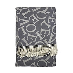 Emma Bridgewater - Grey 'Love' throw