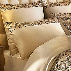 Kylie Minogue at home - Gold 'Alexa' 200 thread count pillow case