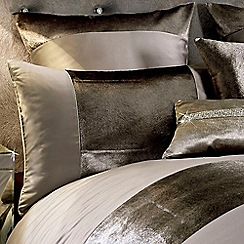 Kylie Minogue at home - Taupe 'Lorenta' 200 thread count pillow case
