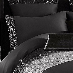 Kylie Minogue at home - Black 'Mezzano' 200 thread count pillow case
