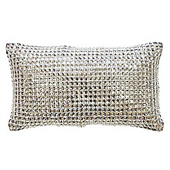 Kylie Minogue at home - Silver diamante rectangle cushion
