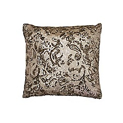 Kylie Minogue at home - Silver embellished 'Alexa' cushion