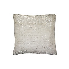 Kylie Minogue at home - Ivory glitter cushion