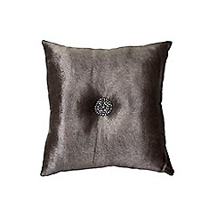 Kylie Minogue at home - Taupe beaded cushion