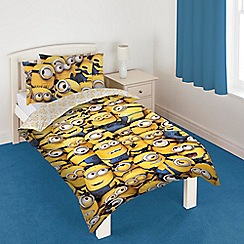Despicable Me - Kids' yellow 'Minions' duvet cover and pillow case set