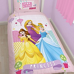 Disney Princess - Kids' pink 'Princess Enchanted' single duvet cover and pillow case set