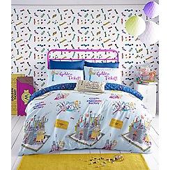 Roald Dahl - Kids' multicoloured Willy Wonka 'Golden ticket' bedding set
