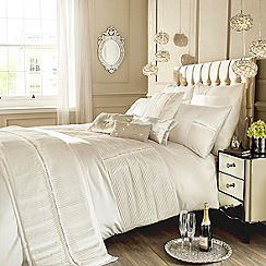 Kylie Minogue at home - Ivory 'Eleanora' duvet cover