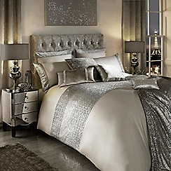 Kylie Minogue at home - Taupe 'Mezzano' duvet cover