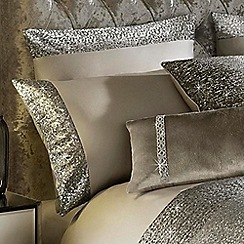 Kylie Minogue at home - Taupe 'Mezzano' pillow case
