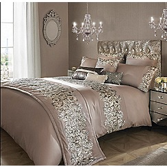Kylie Minogue at home - Taupe 'Petra' bedding set