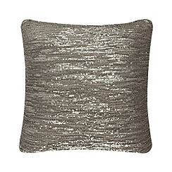 Kylie Minogue at home - Taupe 'Orla' cushion