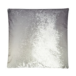 Kylie Minogue at home - Grey ombre cushion
