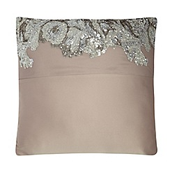 Kylie Minogue at home - Taupe 'Petra' cushion