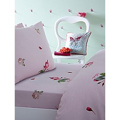 Baker by Ted Baker - Kids' multicoloured 'Emily Rose' single fitted sheet and pillow case set