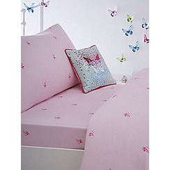 Baker by Ted Baker - Kids' multicoloured 'Crystal Floral' single fitted sheet and pillow case set