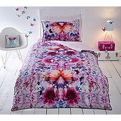 Baker by Ted Baker - Kids' multicoloured 'Crystal Floral' duvet cover and pillow case set