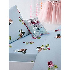 Baker by Ted Baker - Kids' multicoloured 'Tumbling Rose' fitted sheet and pillow case set