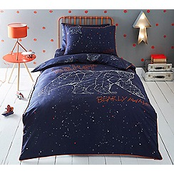 Baker by Ted Baker - Kids' multicoloured 'Bearly Awake' duvet cover and pillow case set