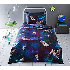 Baker by Ted Baker - Kids' multicoloured 'Space' duvet cover and pillow case set