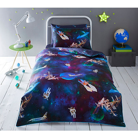 Baker By Ted Baker Kids Multicoloured Space Duvet Cover