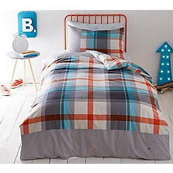 Baker by Ted Baker - Kids' multicoloured 'Check' single duvet cover and pillow case set