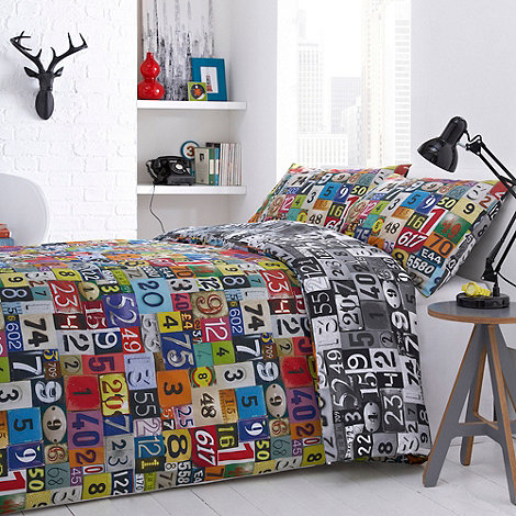 Ben de Lisi Home - Designer multicolourd +numbers+ bedding set