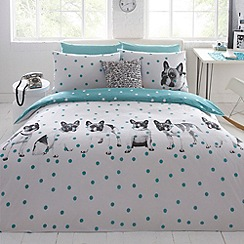 Ben de Lisi Home - Designer white 'Dotty about Dogs' bedding set