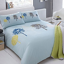 Ben de Lisi Home - Blue tree print 'Woodland' bedding set