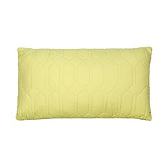 Ben de Lisi Home - Designer lime geometric quilted cushion