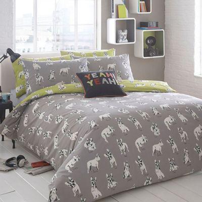 Ben De Lisi Home Grey 39 Sketchy Dog 39 Bedding Set Debenhams